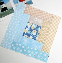 The Patchsmith: Patchsmith Sampler Block 32 - Chunky Log Cabin House Quilt Patterns, Mug Rug Patterns, Quilt Block Patterns, Pattern Blocks, Flag Quilt, Patch Quilt, Quilt Blocks, Applique Quilts, Sampler Quilts