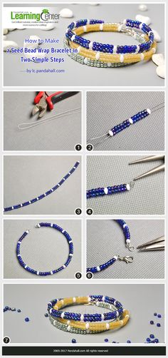How to Make a Seed Bead Wrap Bracelet in Two Simple Steps from LC.Pandahall.com