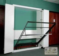 Murphy Bed DIY Kit by Lift & Stor Beds. Maybe a better idea. bed takes up a lot of room in the bedroom!