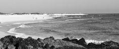 Desde las Islas Canarias  ..Fotografias  : Black and White....Playas de Corralejo en Fuerteve...