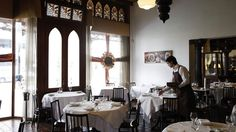 Warm and welcoming: One of Masani's grand dining rooms. Just go there. 30 years in Carlton - doing a lot of things right.
