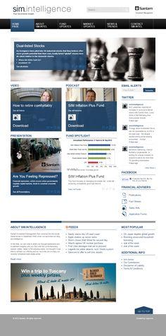 Sanlam SimIntelligence: Bespoke WordPress theme with custom post, functions and plugins