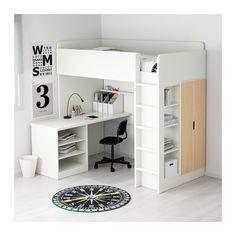 Stuva Loft Bed Combo W 2 Shlvs Ikea You Can Emble The Desk Parallel