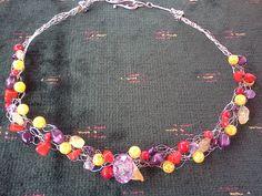 Crochet wire jewellery by Kathleen Scott