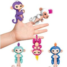 LED 6 Color Cute smart colorful fingerlings baby monkey Unicorn Interactive finger monkey electronic pets Gifts for children Toy