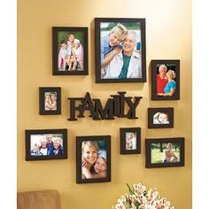 10 piece family picture photo hanging frame set home decor family sign abstract - Wall Hanging Photo Frames Designs