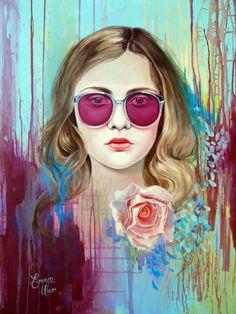 Emma Uber #urbanart #streetart #graffiti #art #painting #abstract #comics #darkart #portrait #illustration #paint