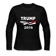 Womens Trump 2016 Donald Trump Candidate Long-sleeve shirt