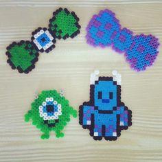Monsters Inc. set perler beads by allie_verano