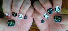 nails desing shellac Star Wars .