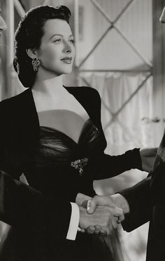 Hedy Lamarr--haven't seen many of her movies, but she's lovely