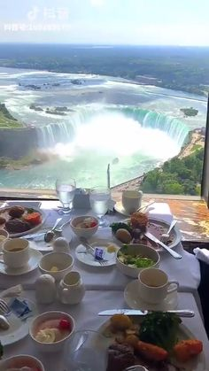 Have breakfast and enjoy beautiful view - Beautiful nature, good food, beautiful waterfalls, fresh air, European travel The Places Youll Go, Cool Places To Visit, Places To Go, Beautiful Places To Travel, Wonderful Places, Beautiful Waterfalls, Beautiful Landscapes, Vacation Places, Dream Vacations