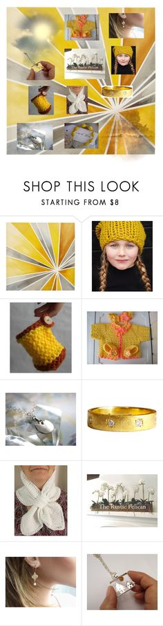 """""""Raggi di sole"""" by acasaconmanu ❤ liked on Polyvore featuring Intelligent Design and Giallo"""