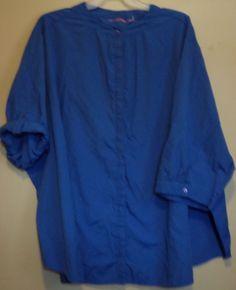 Plus Size 6x blue button down blouse. #ThePlusSide