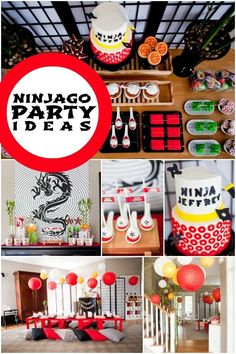 Ninjago Birthday Party Ideas for Boys www.spaceshipsandlaserbeams.com