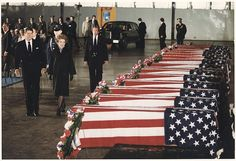 President and Mrs. Reagan honoring the victims of the bombing of the U.S. Embassy in Beirut, Lebanon