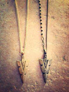 arrowhead necklace. I like the grey one best :)