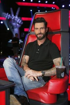 Adam Levine, 'The Voice' Coach - very sexy with the beard