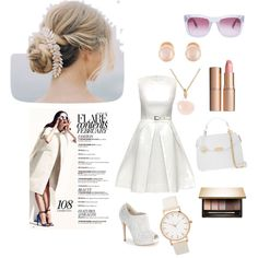 Candid Beauty by steffyyeah on Polyvore featuring polyvore, мода, style, Lattori, Lauren Lorraine, Versace, Sophie Bille Brahe, Kenneth Jay Lane, RetroSuperFuture, Clarins and Charlotte Tilbury