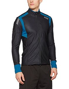GORE RUNNING WEAR, Men's Running T-shirt, Long Sleeved, Warm, Breathable, GORE WINDSTOPPER, AIR WS long, Size