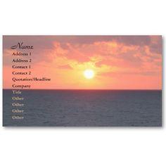 Florida Sunrise Business Cards @Zazzle