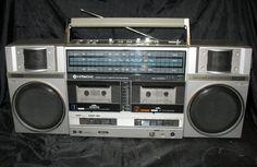 Double Cassette Tape Boom Box