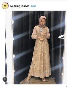 Dress Brukat, Hijab Dress Party, Hijab Style Dress, Kebaya Dress, Dress Pesta, Batik Dress, Dress Outfits, Kebaya Hijab, Dress Brokat Muslim