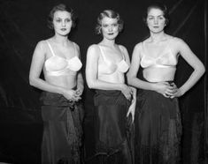 There was no Victoria's Secret yet, but that didn't stop models from showing up half-naked at a Brassiere Fashion Show in 1933.