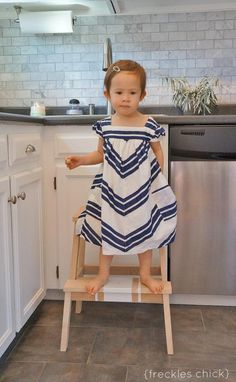 If you have the pitter patter thundering sounds of little feet in your home (o r perhaps you just have high shelves) chances are you have. Bekvam Stool, Ikea Bekvam, Chevron, Projects, Home Decor, Log Projects, Blue Prints, Decoration Home, Room Decor
