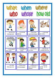 questions words in english English Grammar For Kids, Learning English For Kids, English Worksheets For Kids, Kids English, English Activities, Learn English Words, English Lessons, English Vocabulary, Teaching English