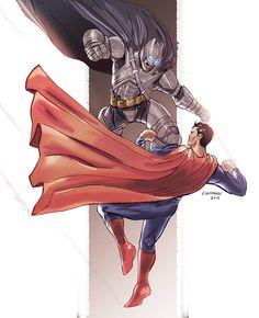 Batman v Superman by Johnny Lighthands