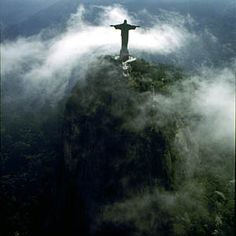 Christ the Redeemer was shrouded in clouds the first time I saw it. It stands above Rio de Janeiro like a beacon. The hike up was worth it. Samba, Cool Places To Visit, Places To Go, Christ The Redeemer Statue, Large Art, Bald Eagle, Trip Planning, Wonders Of The World, Places Ive Been