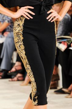 Spanish Heritage |  Pants with Embellished Curve Lines #Trend for Spring Summer 2013  Ralph Lauren Spring Summer 2013   #fashion #trends