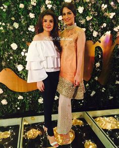 Beautiful ladies #Resham and #CybilChowdhry at the launch of #Lure 💥✨ #HappeningNow #Lahore #HelloPakistan