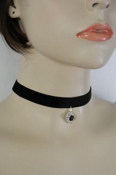 Black Fabric Sexy Stylish Short Choker Necklace Fashion Jewelry Black Bead Basic New Women Fashion Accessories