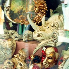 A Venetian Mask Shop Window