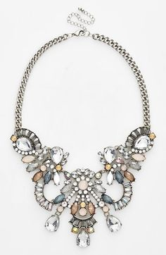 Free shipping and returns on Tildon Crystal & Stone Statement Necklace at Nordstrom.com. Glittery crystals and synthetic stones catch the light on a bold, elegant statement necklace that upgrades any outfit in a flash.