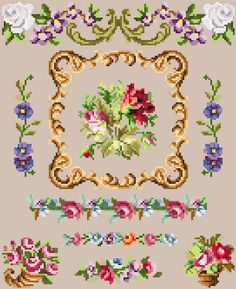 Berlin wool work spot sampler cross stitch by rolanddesigns, $4.00