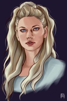 I got my pc back, and I can finally draw again! Here, have some Lagertha done lazily…I really can't wait for season 4 :D