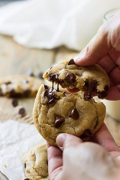 These No Chill Soft Chocolate Chip Cookies require no overnight chilling making them a quick and easy cookie!
