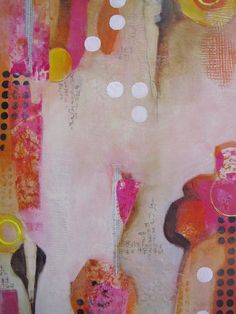 Abstract Print featuring the mixed media Cracking The Code by Chris Cozen