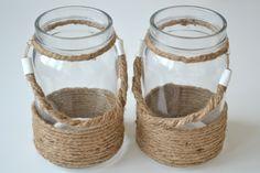 Rope jar lanterns - farolillos con bote de cristal y cuerda