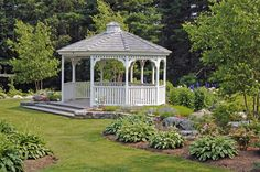 Gazebo Backyard Gazebo, Garden Gazebo, Backyard Garden Design, Outdoor Projects, Garden Projects, Outdoor Shelters, Hillside Garden, Backyard Plan, Landscape Elements