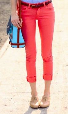 Bright jeans