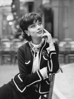 Marie-Helène Arnaud, 1959  Dressed by Chanel