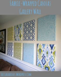 Fabric Wrapped Canvas Wall Panels Side View