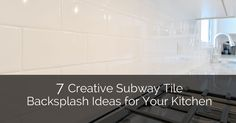 """If you& a homeowner, you are probably familiar with """"subway tile"""". If not, you could be missing out on this classic trend. Their long sleek rectangular shape, pencil thin grout lines, and shiny white color make"""