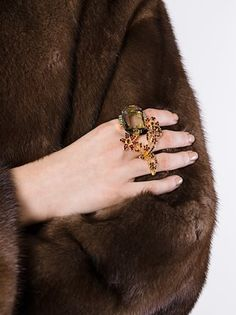Marni strass cocktail ring