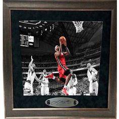 MLB 20x24 Suede Spotlight Frame, LeBron James Miami Heat