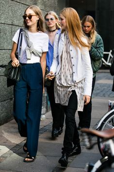 Best of Copenhagen FW Street Style Denim Fashion, Look Fashion, Daily Fashion, Everyday Fashion, Autumn Fashion, Fashion Outfits, Womens Fashion, Looks Chic, Looks Style
